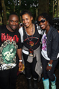 l to r: DJ Spinna, Leah Hamilton, and Keita Peton at the Spike Lee's Brooklyn celebration for Michael Jackson's Birthday held at the Neader field in Prospect Park, Brooklyn on August 29, 2009..Filmmaker Spike Lee celebrates the ' King of Pop ' Birthday with a crowd packed party remembering the recently departing All time Great with a day long spinning of his music in Brooklyn's own Prospect Park