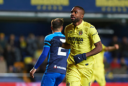 November 30, 2017 - Vila-Real, Castellon, Spain - Cedric Bakambu of Villarreal CF celebrates after scoring a goal during the Copa del Rey, Round of 32, Second Leg match between Villarreal CF and SD Ponferradina at Estadio de la Ceramica on november 30, 2017 in Vila-real, Spain. (Credit Image: © Maria Jose Segovia/NurPhoto via ZUMA Press)