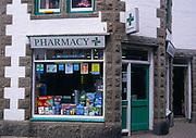 AE2KW7 Small pharmacy chemist shop Marazion Cornwall England