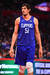 October 19, 2018 - Los Angeles, CA, U.S. - LOS ANGELES, CA - OCTOBER 19: Los Angeles Clippers Center Boban Marjanovic (51) looks on during a NBA game between the Oklahoma City Thunder and the Los Angeles Clippers on October 19, 2018 at STAPLES Center in Los Angeles, CA. (Credit Image: © Brian Rothmuller/Icon SMI via ZUMA Press)