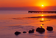 Dock on Lake Manitoba at sunrise<br />Delta Marsh<br />Manitoba<br />Canada