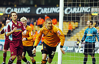 Photo: Kevin Poolman.<br />Wolverhampton Wanderers v Burnley. Coca Cola Championship. 17/02/2007. Michael Kightly of Wolves celebrates his goal.