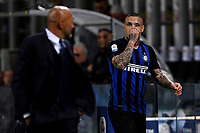 Radja Nainggolan of Internazionale substituted for injury during the Serie A 2018/2019 football match between Fc Internazionale and AC Milan at Giuseppe Meazza stadium Allianz Stadium, Milano, October, 21, 2018 <br />  Foto Andrea Staccioli / Insidefoto