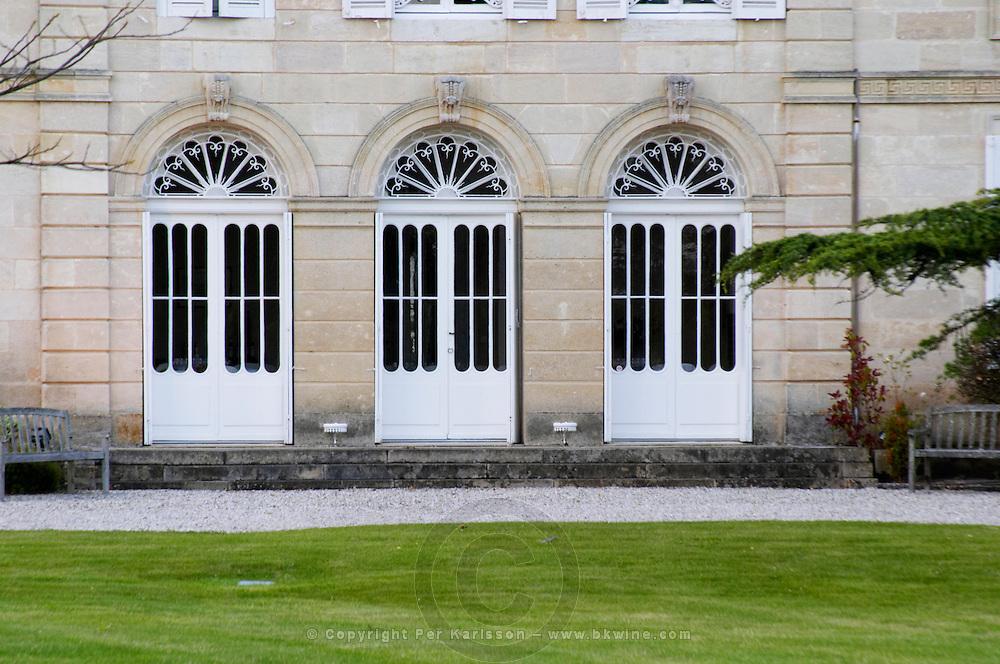 doors chateau belgrave haut medoc bordeaux france