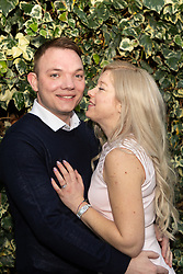 After their impulsive marriage on their first date in Las Vegas Sarah Elliot and Paul Edwards arrive back in the UK. Gatwick, December 30 2018.