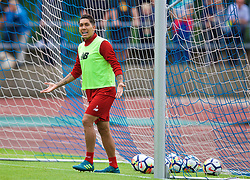 ROTTACH-EGERN, GERMANY - Friday, July 28, 2017: Liverpool's Roberto Firmino during a training session at FC Rottach-Egern on day three of the preseason training camp in Germany. (Pic by David Rawcliffe/Propaganda)