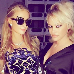 """Paris Hilton releases a photo on Instagram with the following caption: """"Happy Birthday to the #Ultimate #BlondeBombshell @PamelaAAnderson! \ud83c\udf89\ud83d\udc78\ud83c\udffc\ud83c\udf89So many fun memories together! Love you lots! \ud83e\udd17 Let's celebrate soon #BirthdayGirl! \ud83d\udd25\ud83d\udc6f\ud83d\udd25"""". Photo Credit: Instagram *** No USA Distribution *** For Editorial Use Only *** Not to be Published in Books or Photo Books ***  Please note: Fees charged by the agency are for the agency's services only, and do not, nor are they intended to, convey to the user any ownership of Copyright or License in the material. The agency does not claim any ownership including but not limited to Copyright or License in the attached material. By publishing this material you expressly agree to indemnify and to hold the agency and its directors, shareholders and employees harmless from any loss, claims, damages, demands, expenses (including legal fees), or any causes of action or allegation against the agency arising out of or connected in any way with publication of the material."""