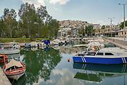 Fishing boats in the Mikrolimano Marina, Piraeus, Athens, Greece