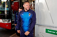 Wimbledon goalkeeping coach Ashley Bayes arrives during the EFL Sky Bet League 1 match between Blackpool and AFC Wimbledon at Bloomfield Road, Blackpool, England on 20 October 2018.