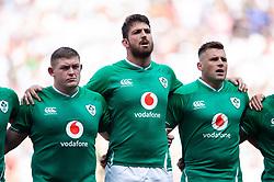 Tadhg Furlong, Jean Kleyn and CJ Stander of Ireland sing the national anthem - Mandatory byline: Patrick Khachfe/JMP - 07966 386802 - 24/08/2019 - RUGBY UNION - Twickenham Stadium - London, England - England v Ireland - Quilter International