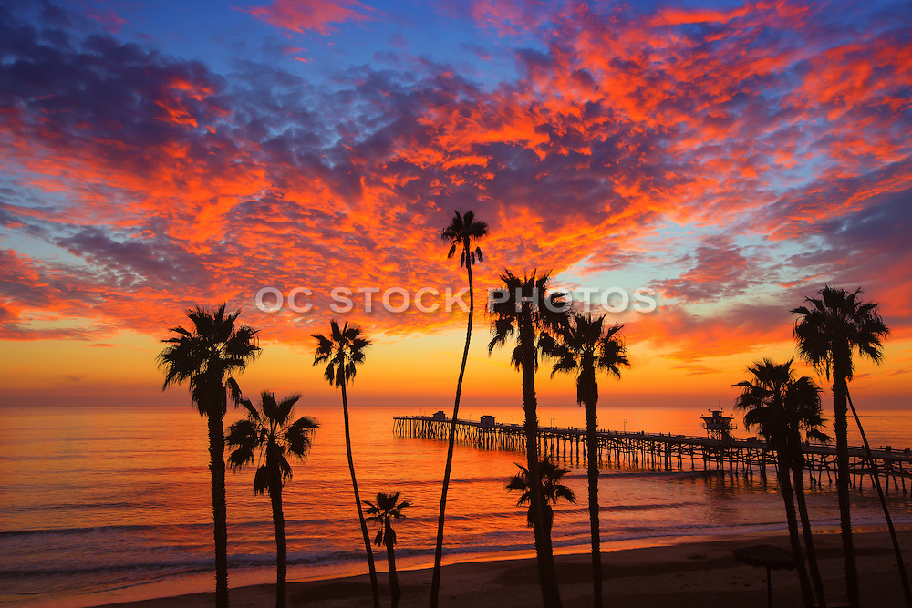 San Clemente at Sunset in Orange County California