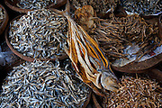 Dried fish on sale at the Sonargaon market in the town of Sonargaon outside Dhaka, Bangladesh.