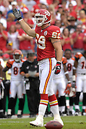 October 14, 2007 - Kansas City, MO..Defensive end Jared Allen #69 of the Kansas City Chiefs pumps up the Kansas City crowd in the first quarter against the Cincinnati Bengals, during a NFL football game at Arrowhead Stadium in Kansas City, Missouri on October 14, 2007...FBN:  The Chiefs defeated the Bengals 27-20.  .Photo by Peter G. Aiken/Cal Sport Media