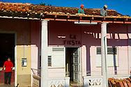 Roof repair in Vinales, Pinar del Rio, Cuba.