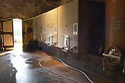 Domaine Borie la Vitarèle Causses et Veyran St Chinian. Languedoc. Concrete fermentation and storage vats. France. Europe.