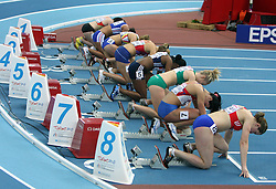 Final Start of 60m Hurdles women at the 1st day of  European Athletics Indoor Championships Torino 2009 (6th - 8th March), at Oval Lingotto Stadium,  Torino, Italy, on March 6, 2009. (Photo by Vid Ponikvar / Sportida)