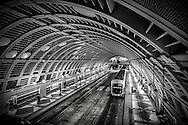 USA, Washington, Seattle. Pioneer Square Station under Seattle, Washington, part of the SoundTransit mass transportation system.