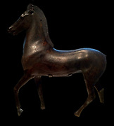 Bronze statue of a horse. Greek 2nd -1st century BC