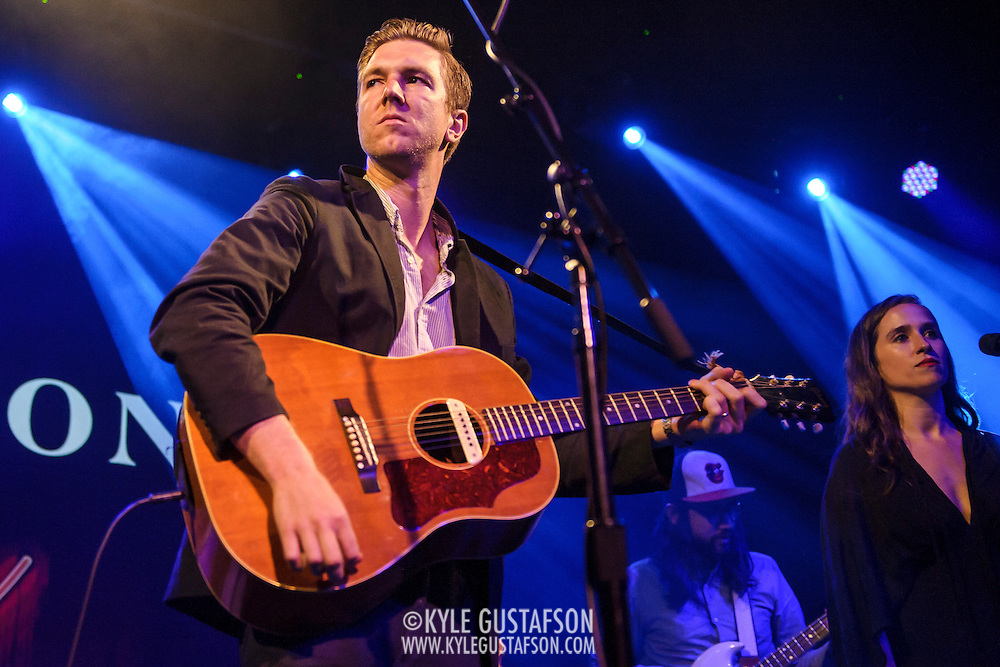"""WASHINGTON, DC - July 13th, 2014 - Hamilton Leithauser (left) performs at The Hamilton in Washington, D.C. Leithauser, a D.C. native, released his first solo album this year while his former band, The Walkmen, are on a self-proclaimed """"extreme hiatus."""" (Photo by Kyle Gustafson / For The Washington Post)"""