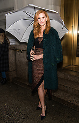 Celebrities arrive to the Christian Siriano fashion show during New York Fashion Week at Grand Lodge in New York. 10 Feb 2018 Pictured: Sarah Rafferty. Photo credit: MEGA TheMegaAgency.com +1 888 505 6342
