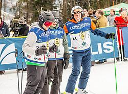 25.01.2020, Streif, Kitzbühel, AUT, FIS Weltcup Ski Alpin, im Bild v.l. Alec Garrett, Ken Garret, Leo Stock // f.l. Alec Garrett Ken Garret Leo Stock during the KitzCharityTrophy 2020 at the Streif in Kitzbühel, Austria on 2020/01/25. EXPA Pictures © 2020, PhotoCredit: EXPA/ Stefan Adelsberger