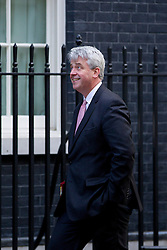 © Licensed to London News Pictures. 16/10/2012. LONDON, UK. Andrew Lansley, Leader of the Commons, is seen on Downing Street in London for today's (16/10/2012) meeting of David Cameron's cabinet. Photo credit: Matt Cetti-Roberts/LNP