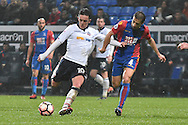 Bolton Wanderers Forward, Zach Clough (10) ansd Crystal Palace Midfielder,  Mathieu Flamini (4) during the The FA Cup 3rd round match between Bolton Wanderers and Crystal Palace at the Macron Stadium, Bolton, England on 7 January 2017. Photo by Mark Pollitt.