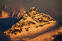 Russia, Caucasus, just before sunset. Seen from Elbrus.