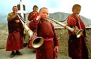 INDIA, RELIGION, BUDDHISM Ladakh; Lamayuru Monastery