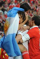 20100509: LISBON, PORTUGAL - SL Benfica vs Rio Ave: Portuguese League 2009/2010, 30th round. In picture:  Angel Di Maria and David Luiz. PHOTO: Alvaro Isidoro/CITYFILES