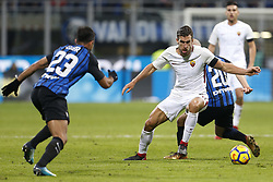 January 21, 2018 - Rome, Italy - Olympic Stadium, MILAN, Italy - 21/01/2018..(L-R) Eder of Inter Milan and Kevin Strootman of Roma in duel during their Italian Serie A soccer match...Credit: Giampiero Sposito/Pacific Press (Credit Image: © Giampiero Sposito/Pacific Press via ZUMA Wire)