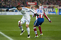 Atletico de Madrid's Lucas and Real Madrid's Jese Rodriguez during 2014-15 Spanish King Cup match at Vicente Calderon stadium in Madrid, Spain. January 07, 2015. (ALTERPHOTOS/Luis Fernandez)