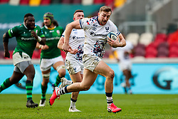 Sam Bedlow of Bristol Bears scores a try which is then disallowed by the TMO - Rogan/JMP - 21/02/2021 - RUGBY UNION -  Brentford Community Stadium - London, England - London Irish v Bristol Bears - Gallagher Premiership Rugby.