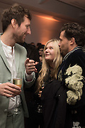 HENRY HUDSON; SOPHIE KENNEDY-CLARK; ADAM WAYMOUTHSerpentine Gallery and Harrods host the Future Contempories Party 2016. Serpentine Sackler Gallery. London. 20 February 2016