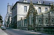 Hôtel-Dieu-Le-Comte, Louis XV gilded gate, Troyes, France 1976