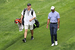 May 30, 2019 - Dublin, OH, U.S. - DUBLIN, OH - MAY 30: Tiger Woods and his caddy Joe LaCava walk towards the green on the eighth hole during the first round of The Memorial Tournament on May 30th 2019  at Muirfield Village Golf Club in Dublin, OH. (Photo by Ian Johnson/Icon Sportswire) (Credit Image: © Ian Johnson/Icon SMI via ZUMA Press)