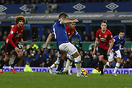 Leighton Baines of Everton scores his teams 1st goal from the penalty spot. Premier league match, Everton v Manchester United at Goodison Park in Liverpool, Merseyside on Sunday 4th December 2016.<br /> pic by Chris Stading, Andrew Orchard sports photography.