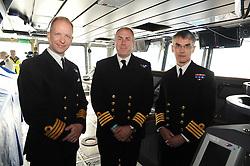 HMS Queen Elizabeth, Rosyth,24-5-2016        <br /> <br /> Cpt Kid, Cpt Petitt and Cpt Groom<br /> <br /> (c) David Wardle   Edinburgh Elite media