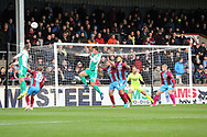 GOAL Plymouth Argyll defender Niall Canavan (14) scores with his head to make it 2-0 during the EFL Sky Bet League 1 match between Scunthorpe United and Plymouth Argyle at Glanford Park, Scunthorpe, England on 27 October 2018. Pic Mick Atkins