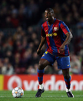 FC Barcelona's defender Abidal controls the ball during their Champions League footbal match against Glasgow Rangers at Camp Nou stadium in Barcelona, 07 November 2007. INSIDEFOTO / CPA / PACO SERINELLI