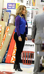 "Jennifer Lopez is all smiles as she works at a supermarket while filming scenes for her latest project ""Second Act"" in Astoria, Queens. 23 Oct 2017 Pictured: Jennifer Lopez. Photo credit: LRNYC / MEGA TheMegaAgency.com +1 888 505 6342"