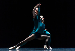 June 20, 2018 - London, London, United Kingdom - Semperoper Ballett.  call forSemperoper Ballett'sAll ForsytheatSadler's Wells Theatre..Based in Dresden, the Semperoper Ballett is internationally renowned for its distinguished ballet technique with both classical and contemporary repertoire. This triple bill of works by the visionary William Forsythe compliments the dancers' technical expertise and physical prowess. (Credit Image: © Gustavo Valiente/i-Images via ZUMA Press)