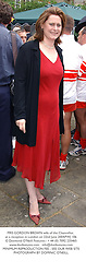 MRS GORDON BROWN wife of the Chancellor, at a reception in London on 22nd June 2004.PWJ 106