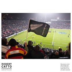 All Blacks Fans;British & Irish Lions;New Zealand Maori at the British & Irish Lions v. New Zealand Maori Match at Waikato Stadium, Hamilton, New Zealand.<br />