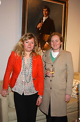 Left to right,CATHERINE CAZALET and TATIANA SLOANE at a private view of paintings by Sophie Gilbart-Denham held at OKA, The Coachworks, 80 Parsons Green Lane, London SW6 on 6th November 2005.<br /><br />NON EXCLUSIVE - WORLD RIGHTS