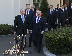 March 26, 2019 - Washington, District of Columbia, U.S. - United States House Minority Whip Steve Scalise (Republican of Louisiana) and Representative Kevin Brady (Republican of Texas) lead other members of Congress speak to the media after meeting with United States President Donald J. Trump  at the White House in Washington, DC, March 26, 2019. Credit: Chris Kleponis / CNP (Credit Image: © Chris Kleponis/CNP via ZUMA Wire)