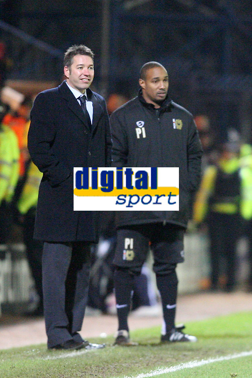 Photo: Pete Lorence/Sportsbeat Images.<br /> Peterborough United v Milton Keynes Dons. Coca Cola League 2. 15/12/2007.<br /> Darren Ferguson and Paul Ince during the match.