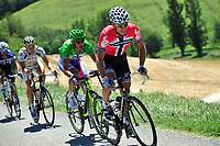 CYCLING - TOUR DE FRANCE 2010 - BAGNERES-DE-LUCHON (FRA) - 19/07/2010 - PHOTO : VINCENT CURUTCHET / DPPI - <br /> STAGE 15 - PAMIERS > BAGNERES DE LUCHON - THOR HUSHOVD (NOR) / CERVELO TEST TEAM AND ALESSANDRO PETACCHI (ITA) / LAMPRE