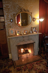 California: Napa City,, B&B fireplace interior room during B&B Holiday Tour at McClelland Priest house.  Photo copyright Lee Foster.  Photo # canapa106892