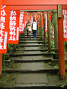 gates to the Sasuke Inari shrine in kamakura Japan